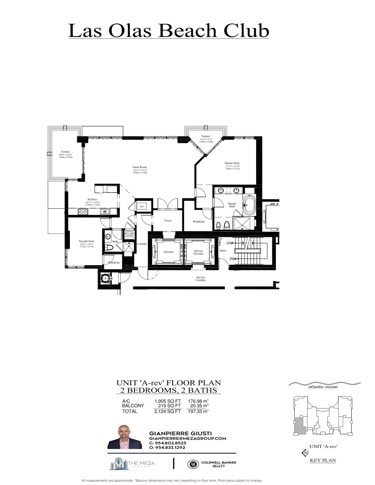 Las Olas Beach Club Model 'AR', '06' Line Floor Plan